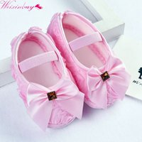 Wholesale baby rose soft sole shoes for sale - Group buy Baby Girl ShoesToddler Pre walker Shoes Rose Flowers Bow Princess Newborn Baby Soft Sole Shoes First Walkers