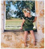 neugeborene mädchen brautkleider großhandel-Prinzessin Neugeborenen Kinder Baby Mädchen Kleidung Kleid Sommer Kurzarm Mini Kurze Pageant Party Brautkleider Mädchen 9 Mt-4 T