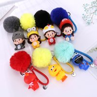 Wholesale figure wallet resale online - Creative Cartoon Rotocast Figure Doll Keychains For Women Men Key Chain Car Key Ring Bag Wallet Pendants Gifts Fashion Jewelry