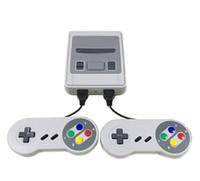 videoları bağla toptan satış-Mini SFC Oyun Konsolu AV Çıkışı SNES 500 Klasik Video Oyunları TV'ye ve İki Oyuncuya Bağlanabilir