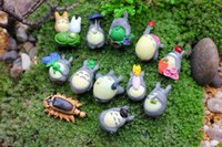 ingrosso mini figurine-PrettyBaby Anime Cartoon My Neighbor Totoro Bella Mini PVC Figure Giocattoli Bambole Giocattoli Per Bambini Regali zakka figurine resine spedizione gratuita in magazzino