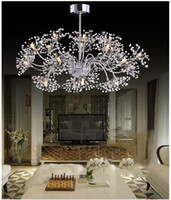 Wholesale crystals shops resale online - Modern simple LED crystal chandelier living room dining room creative lighting will be the wedding dress shop dandelion lamp