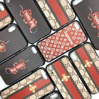 ingrosso nero chiaro hard iphone-Per Iphone Xr Xs Max 6 7 8 X Plus Luxury Brand Snake Bee Cassa Del Telefono Cellulare TPU Cassa Del Telefono Del Sollievo Morbido