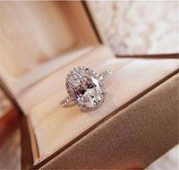 broca de mão de jóias venda por atacado-Designer H e W Anel Jóias 925 Hand-cravejado broca Anel Diamante de luxo Praça For Women frete grátis