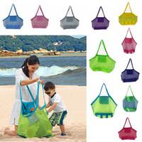 niños niños tote al por mayor-Gran capacidad para niños bolsas de playa Arena Away Malla Bolsa de asas Juguetes para niños Cáscara Recoger Bolsas de almacenamiento plegar compras bolsos AAA2014
