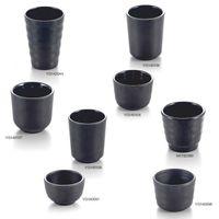 A5 Melamine Dinnerware Water Cup Restaurant Black Frost Imitation Porcelain Tableware Tea Cup Milk Tea Commercial cup