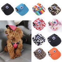 ingrosso cappelli di cane estivo-TAILUP Cappello regolabile per cani sportivo con fori per orecchie Berretto da baseball in tela per cani di piccola taglia Accessori estivi per cani Cappellini per cani