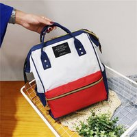 Wholesale clip backpack for sale - Group buy Lucky2019 Shoulders Both Woman Will Capacity A Bag Canvas Clip Mouth Portable Mommy Backpack Multipurpose Computer Package