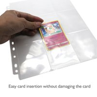 Wholesale trading card holders resale online - 9 Pocket Pages Protector Trading Card Storage Album Pages Transparent Waterproof Card Collector Holder Display Organizer