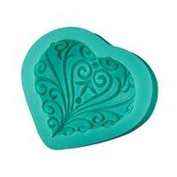 sabun kalıp düğün toptan satış-Yeni Yaratıcı Düğün Aşk Kalp Şekli Silikon Kalıp Kek Dekorasyon Araçları Pişirme Fondan Kalıp El Yapımı Sabun Kalıp