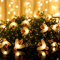 arı partisi dekorasyonları toptan satış-Parti DIY Süslemeleri Plastik Perde Arı Işıkları Dize House Party Dekor Ile Çarpıcı 3 m 20 LED Boncuk Dekorasyon Işık