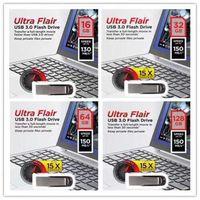32gb flash sürücüler toptan satış-2019 Sıcak Satış Metal Bar 32 GB 64 GB 128 GB Metal Ultra Flair USB 3.0 / 2.0 Flash Sürücü 150 MB / S'ye kadar Yüksek Performans