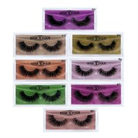 Wholesale false glitter eyelashes resale online - Mink Lashes D Mink False Eyelashes Long Lasting Lashes Natural Lightweight Mink Eyelashes Glitter Packaging Box