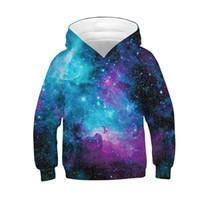 Raisevern Kids Hoodies Sweatshirts Autumn Winter Girls Boys 3D Print Long Sleeve Hooded Space Galaxy 3D Hoody Tops Pullover
