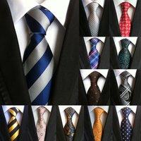с высокой плотностью связей оптовых-New 60 Styles Paisley Stripes Ties for Men Classics Business High Weft Density Flower Pattern Necktie  Wedding Accessories