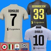jerseys de fútbol xxxl al por mayor-RONALDO DYBALA 18 19 juventus camiseta de fútbol camiseta de fútbol juventus MANDZUKIC CHIELLINI Camiseta de fútbol 2018 2019 BERNARDESCHI maillot de foot
