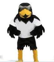 özel peluş kostümler toptan satış-2019 Sıcak satış Profesyonel ismarlama Deluxe Peluş Falcon Maskot Kostüm Yetişkin Boyutu Kartal Mascotte Mascota Karnaval Parti