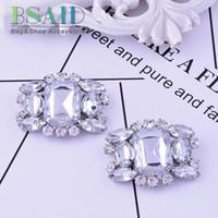 ingrosso ornamenti di cristalli-BSAID 1 pezzo moda scarpa clip decorativo accessorio, moda donna scarpe da sposa di cristallo accessori di cristallo ornamento morsetto