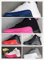 zapatos de niño juvenil talla 12 al por mayor-2019 brand 12 Kids Shoes Niños 12s Zapatos de baloncesto Zapatos deportivos de alta calidad Jóvenes niños niñas Zapatillas de deporte Tamaño de venta US11C-3Y EU 28-35