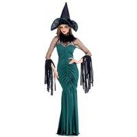 plus größe sexy cosplay großhandel-Erwachsene Frauen Halloween Sexy Gothic Hexe Kostüm Damen Phantasie Quaste Kleid Cosplay Lustige Outfit S-XL Für Mädchen Plus Größe