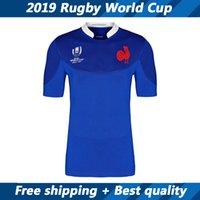 fans blau großhandel-Neuheiten FRANKREICH Rugby Trikot Fans Version Frankreich 2019 Rugby World Cup Heimtrikot blau Kurzarmtrikot Größe S-XXXL