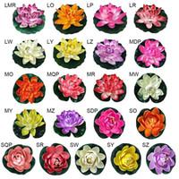 faux fleurs de lis achat en gros de-1 pc Piscine Piscine Coloré Maison Artificielle Faux Lotus Simulation Nénuphar Jardin Ornement Flottant Fleur Étang Réservoir Plante