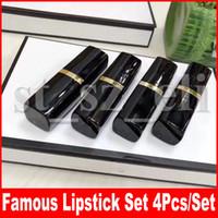 bastões para os lábios venda por atacado-Famosa 4 pçs / set Lip Makeup Set Matte batom 4color batons compõem cosméticos 4 pçs / set