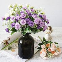 Wholesale lilac decorations for sale - Group buy artificial lilac flowers white autumn small silk heads fake flowers bouquet home decor Christmas party wedding decoration