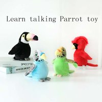 Wholesale talking record toy for sale - Group buy Electric Talking Plush Toy Cute Flapping Wings Funny Parrot Toy Recording Learn To Talk Children Education Kids Gift