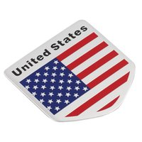 fenêtre drapeau pour la voiture achat en gros de-Nouvel Ameriacan Drapeau Motif Carré / Bouclier Forme Autocollants Porte De Fenêtre De Voiture De Décalque Unique et personnalisé Vente Chaude