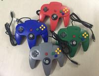 yeni oyun sistemleri toptan satış-YENI Uzun Denetleyici Nintendo 64 N64 için Oyun Pedi Joystick Sistemi Konsol opp Ambalaj