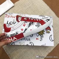 ingrosso lo stock-2019 DG Coppia piattaforma Chaussures Dolce Gabbana Uomini con lo stordimento Embelled lusso di modo casuale del progettista Stock x scarpe sportive scarpe da tennis 38-45