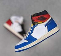 sendika modası toptan satış-Yüksek Kalite Birliği 1 Basketbol Ayakkabı 1s Yüksek OG Nrg Los Angeles Tasarımcı Ayakkabı x Erkek Moda Bez Ayakkabı Doğa Sporları Ayakkabı -68