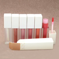 Wholesale nude pink lip color for sale - Group buy Professional Makeup Butter Gloss Matte Velvety Lip gloss Nude liquid lipstick Moisturizer Smooth Waterproof LipGloss with clear lip gloss