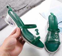 offene zehenhefterzufuhr ferse großhandel-Neue mode frauen Sommer Einfache Leder Innere Weiche Komfortable Offene transparente rauhe sandals frauen Hausschuhe L3302