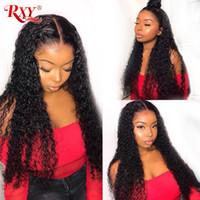 düz dalgalar saç toptan satış-RXY Perulu Saç Demetleri Derin Dalga İnsan Saç Dokuma Derin Kıvırcık 10-26 Inç Yumuşak Ve Pürüzsüz Perulu Kıvırcık Saç demetleri Toptan