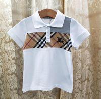 ingrosso importa t-shirt-Fen nuova moda bambini anti-collare a maniche corte T-shirt importati tessuto di cotone lettera Z modello delle mattonelle