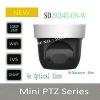 Wholesale ir ptz mini dome camera for sale - In Stock Security IP Camera cctv X MP HD Mini IR PTZ Dome Camera with POE Wifi Camera WithLogo DH SD29204T GN W
