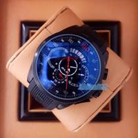 pin benz al por mayor-HEUER CARRERA SLS Hombres Relojes deportivos Cronógrafo de lujo Banda de goma Reloj de cuarzo Marcas de moda Calibre100 benz Relojes masculinos