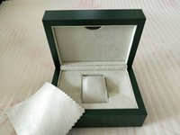 tarjetas en caja envío gratis al por mayor-Libre de fábrica del envío reloj de la tarjeta verde Papeles original de la caja monedero del bolso cajas de regalo de 185 mm * 134 mm * 84 mm 116610 116660 116710 Relojes