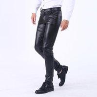 """Nero lucido PVC Punk Rock Goth Bondage Pantaloni da uomo 32/"""" 34/"""" 36/"""" 38/"""""""