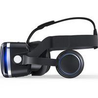 óculos 3d para telefone venda por atacado-NOVA Casque VR Capacete VR Realidade Virtual Óculos 3 D 3D Óculos Óculos com Fone De Ouvido Para iPhone Android Smartphone Telefone Inteligente estéreo