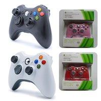 microsoft xbox game controller großhandel-Für XBOX 360 Wireless Controller Bluetooth Gamepad für Microsoft Xbox360 Game Controller Joystick Joypad mit Kleinkasten