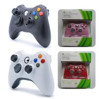 controlador microsoft venda por atacado-Para xbox 360 controlador sem fio bluetooth gamepad para microsoft xbox360 controlador de jogo joystick joypad com caixa de varejo