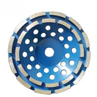 flexible keramik großhandel-6 Stücke 4 Zoll 5 Zoll 7 Zoll Zweireihig Diamantschleifbecher Rad Metal Bond Schleifblöcke für Stein- und Betonschleifen