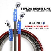 Wholesale stainless steel braided hose resale online - Motorcycle Brake Oil Hose Braided Dteel Hydraulic Reinforce Brake Line Clutch Oil Hose Stainless Steel Braided pipeline cm