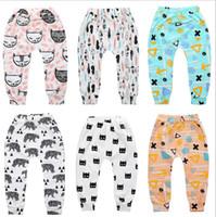 Wholesale penguin kids clothes resale online - INS Baby Kids Harem Pants Summer fox bear print Boys Girls PP Pant Trousers Penguin casual Trouser kid toddler fashion Clothing B3132