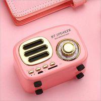 controle de volume do mini alto-falante bluetooth venda por atacado-BT02 Mini portátil retro sem fio Bluetooth Speaker TF FM Stereo Controle Apoiar Volume HiFi Soundbox para iPhone