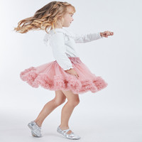 Wholesale children classic clothes online - Kids girl Tutu Skirts Fashion children tulle Pettiskirt toddler pink tutu Dance Skirt Party performance clothes Spring
