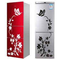Wholesale high quality landscape wall lights for sale - Group buy High Quality Creative Refrigerator Black Sticker Butterfly Pattern Wall Stickers Home Decoration Kitchen Wall Art Mural